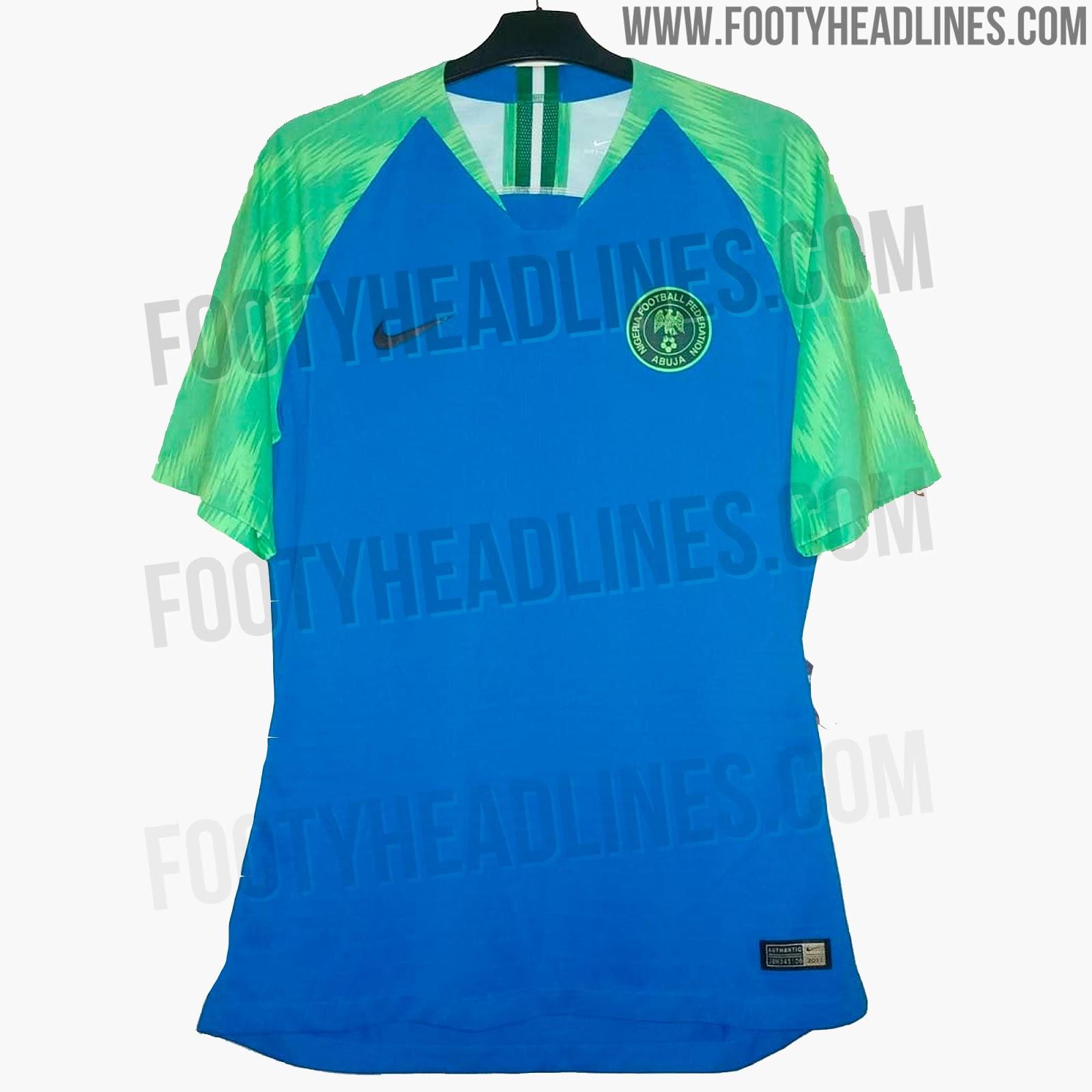 Camiseta Crazy Nike Nigeria 2018 World Cup Prototipo-Filtrada