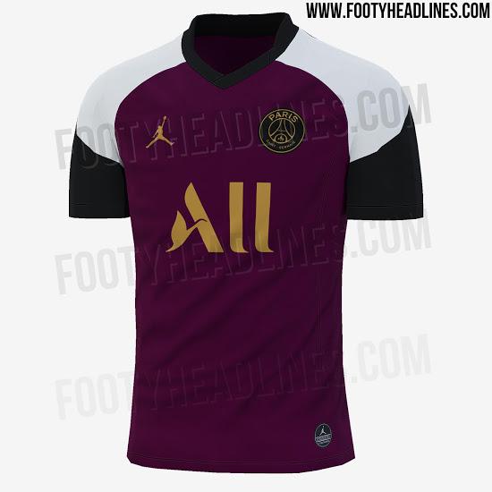 Camiseta PSG 2021 Cuarta Equipación Negro & Hyper Pink