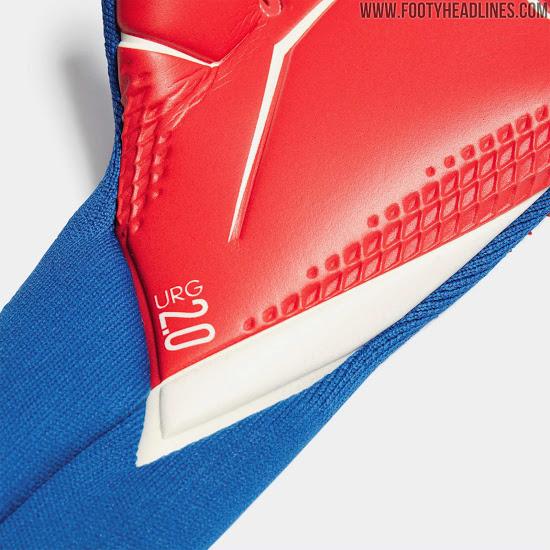 Guantes de portero Adidas Predator 20 'Tormentor' azul / rojo / blanco