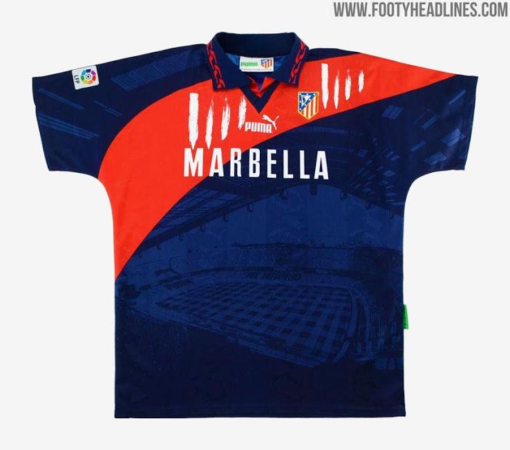 Camiseta Atlético Madrid 2021 Diseño inspirado en la Camiseta Puma 1990-Filtrado