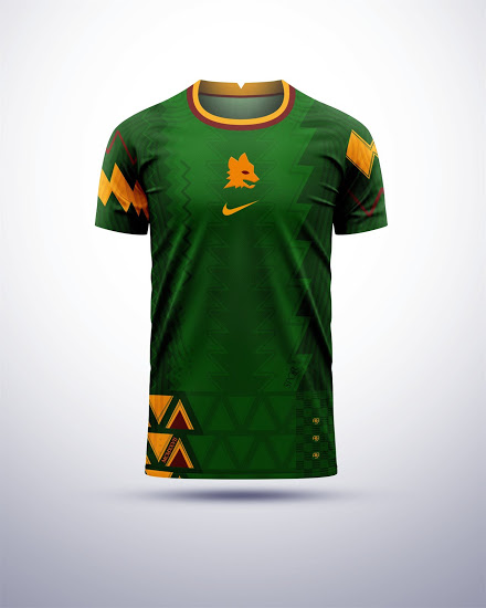 Camisetas Nike AS Roma x Nigeria 2020 Concept Kits