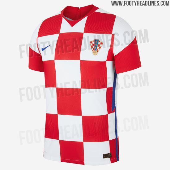 Camiseta de local de Croacia 2020