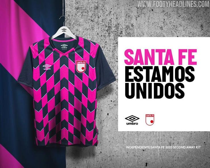 Camiseta alternativa del Santa Fe FC de la temporada 2020