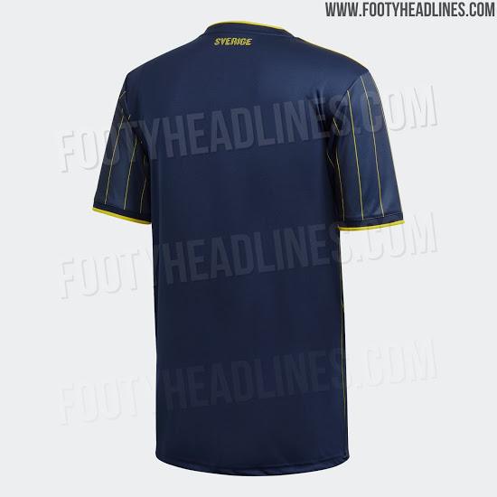 Camiseta de visitante de Suecia para la Euro 2020