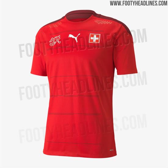 Camiseta de Suiza para la Eurocopa 2020 - Fotos Oficiales