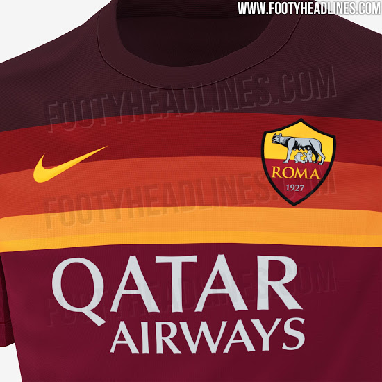 Camiseta de local de la AS Roma 2020-2021