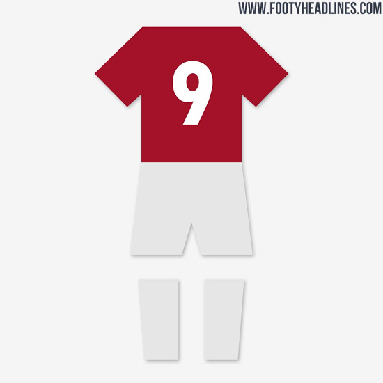 Colores de la camiseta de local del Manchester United 2020-2021