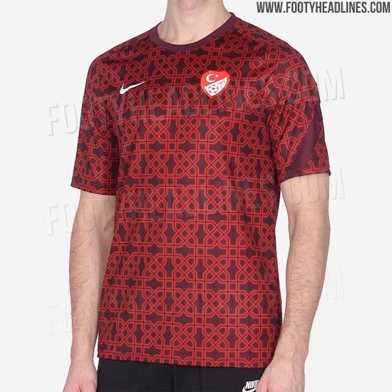 Camiseta Pre-Partido de Turquía 2020-2021