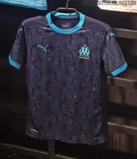 Camiseta de visitante del Olympique De Marsella 2020-2021