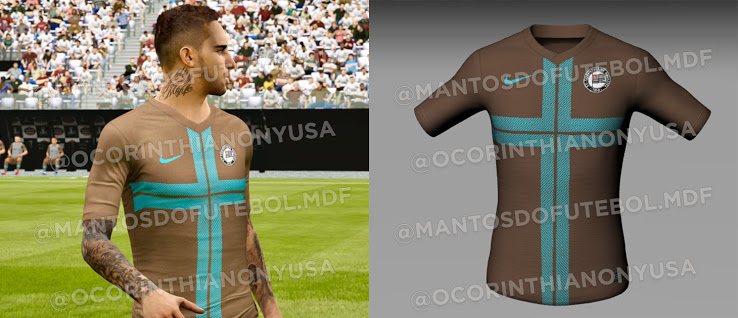 Camiseta de local, visitante y alternativa del Corinthians 2020-2021