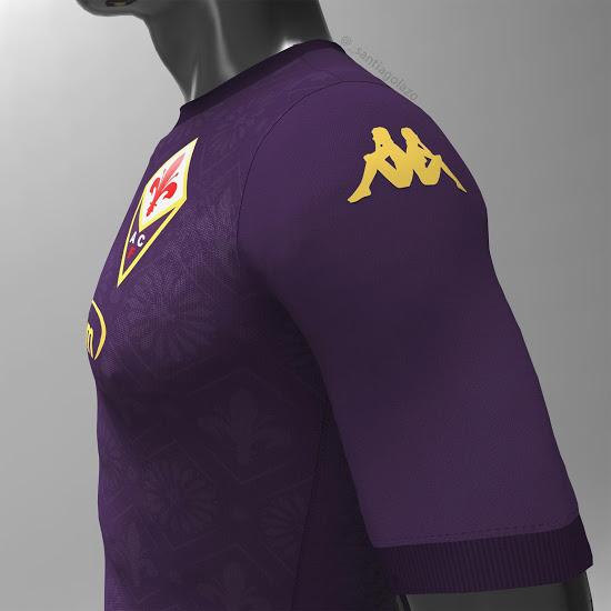 Concepto de la camiseta de local de la Fiorentina 2020-2021 con inspiración Renacentista