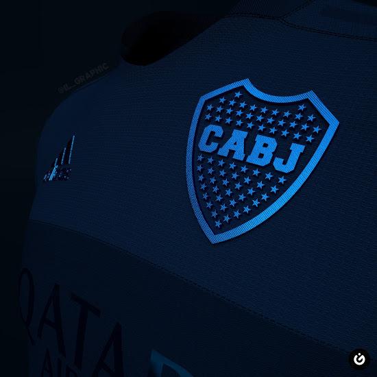 Camiseta Futurista de Boca 2020-2021 Concepto De Azul