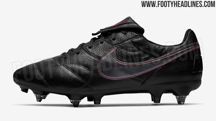 Elegante Negro / Rojo Nike Premier II Anti-Zuecos Botas de Filtrado