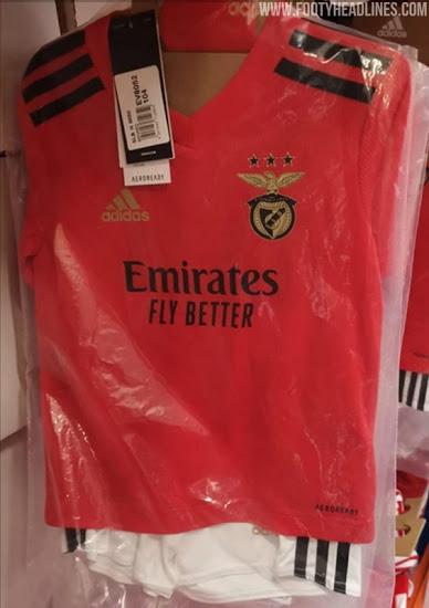 Camiseta de Local y Visitante del Benfica 2020-2021