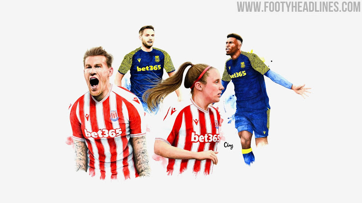 Camisetas de Local y Visitante del Stoke City 2020-2021