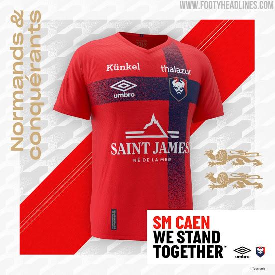 Camiseta de Local, Visitante y de Portero del SM Caen 2020-2021
