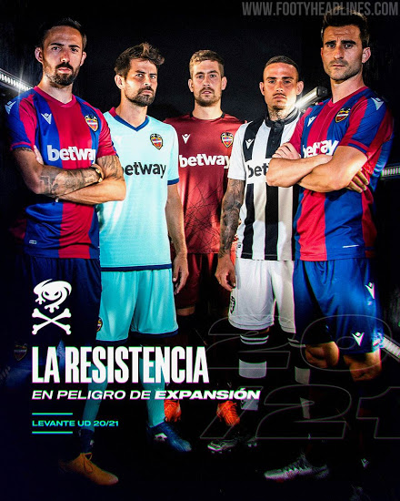 Camiseta de Local, Visitante y Alternativa del Levante 2020-2021
