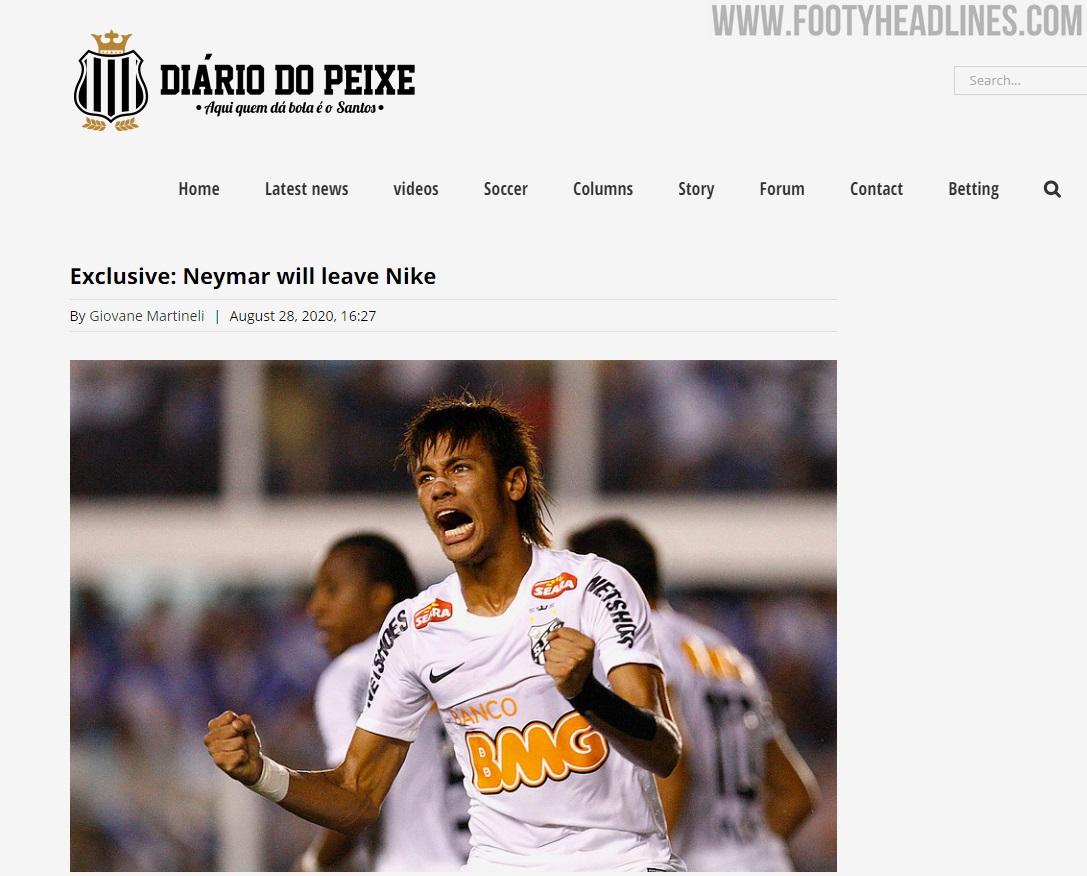 Neymar dejará Nike y se irá con Puma