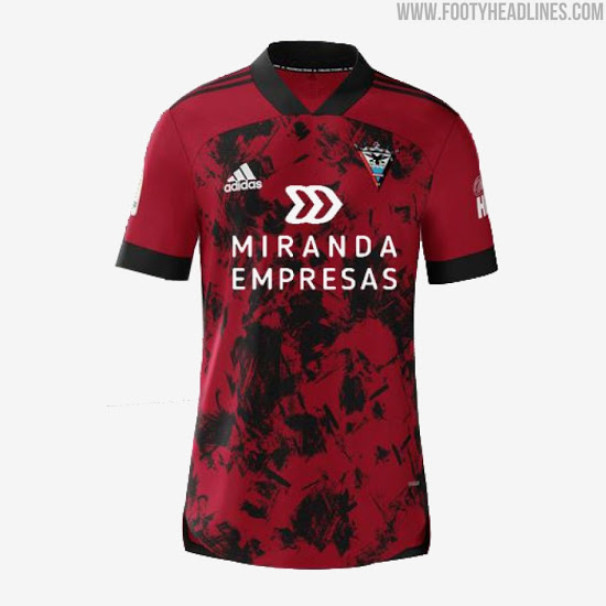 Camiseta de Local, Visitante y Alternativa del CD Mirandes 2020-2021