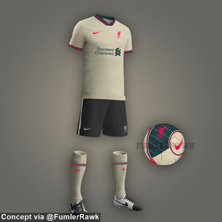 Colores de la Camiseta de Visitante del Liverpool 2021-2022
