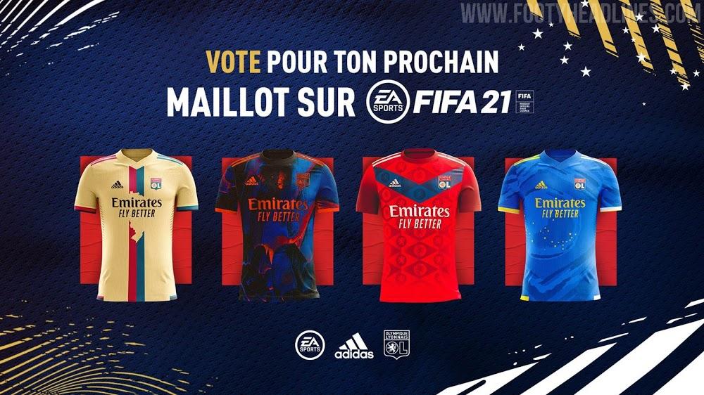 Votación de la 4ª equipación digital del Olympique de Lyon de Adidas