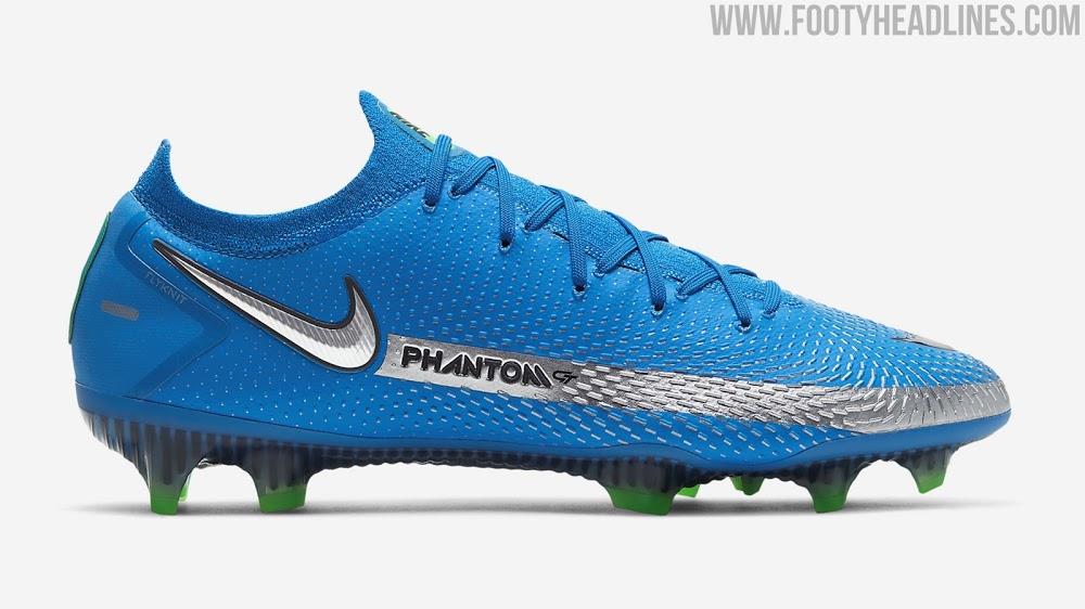 Lanzamiento de las botas Nike Phantom GT 2021 'Spectrum Pack' azul foto