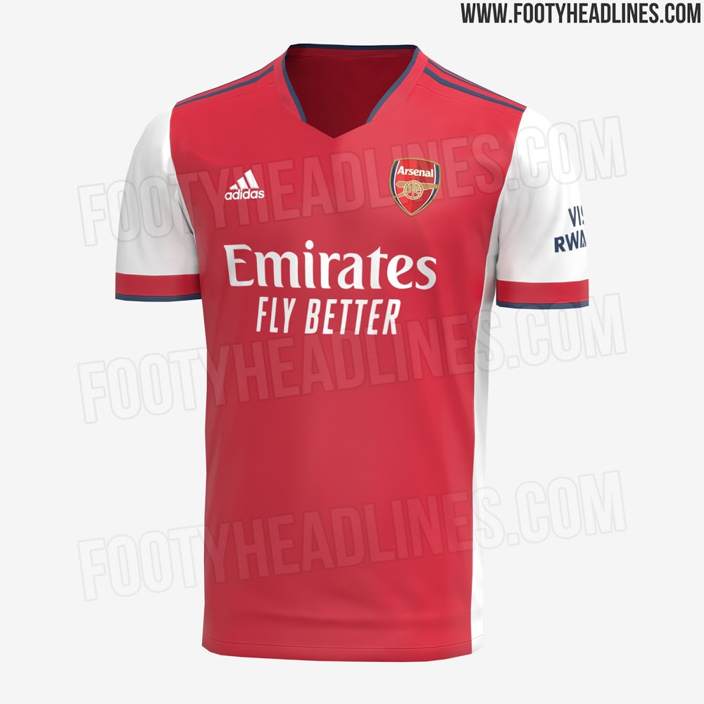 Camiseta de Local del Arsenal 2021-2022