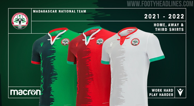 Camisetas de Local, Visitante y Alternativa Madagascar 2021