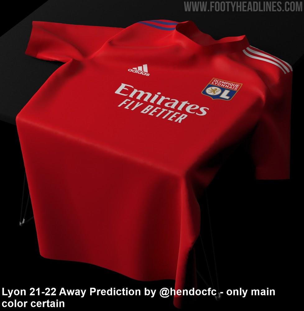 Camiseta de Local y Visitante del Olympique Lyon 2021-2022