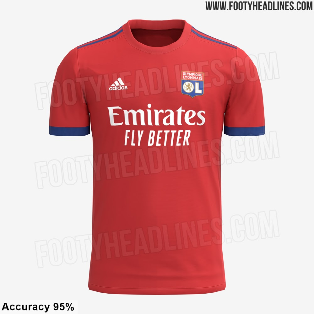 Camiseta de Visitante del Olympique Lyon 2021-2022