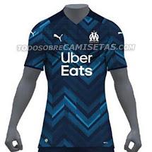 Camiseta de Visitante del Olympique Marsella 2021-2022