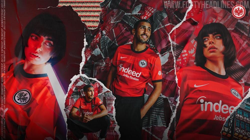 Camiseta de Visitante del Eintracht Frankfurt 2021-2022