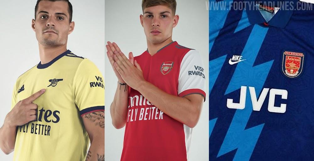 Camisetas de Local, Visitante y Alternativa del Arsenal 2021-2022