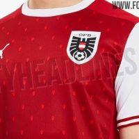 Camiseta de local de Austria para la Eurocopa 2020