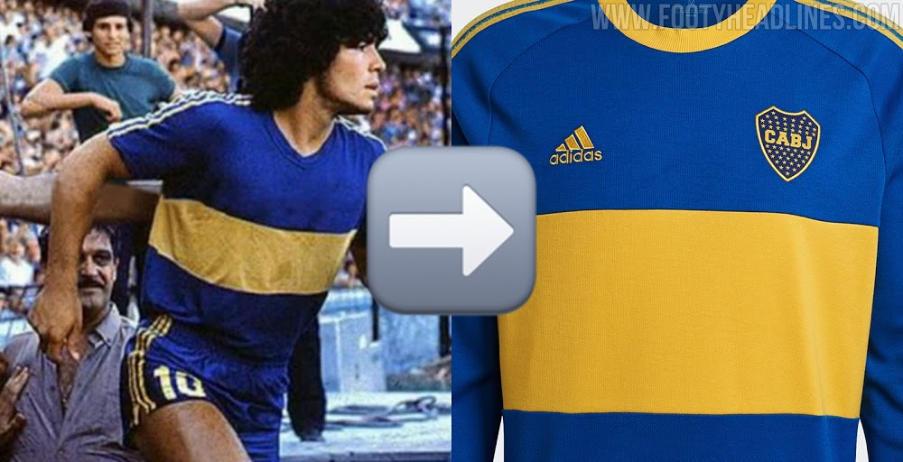Camiseta especial Icon Retro de Boca Juniors 2021