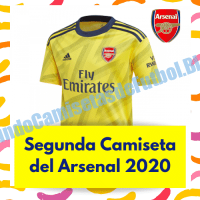 Segunda Camiseta del Arsenal FC para la Temporada 2020