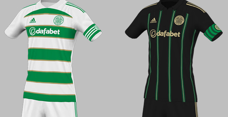 Elegante camiseta de local y visitante del Celtic de Glasgow 2020-2021