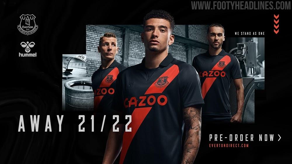 Camiseta de Visitante del Everton 2021-2022