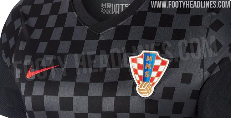 Se filtró la camiseta de visitante de Croacia para la Euro 2020