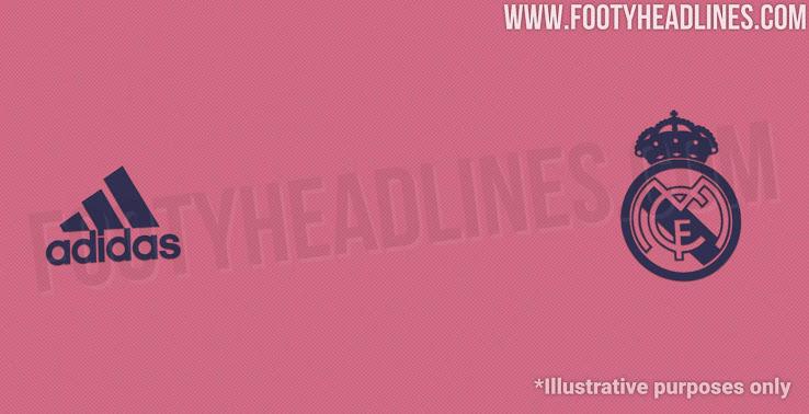 """Colores de la camiseta de visitante del Real Madrid 2020-2021 """"La Primavera Rosa"""""""