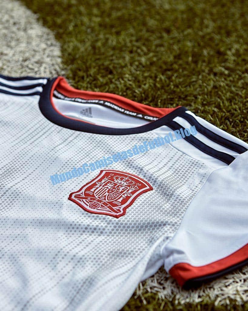 Camiseta visitante de la seleccion española de futbol femenino 2019