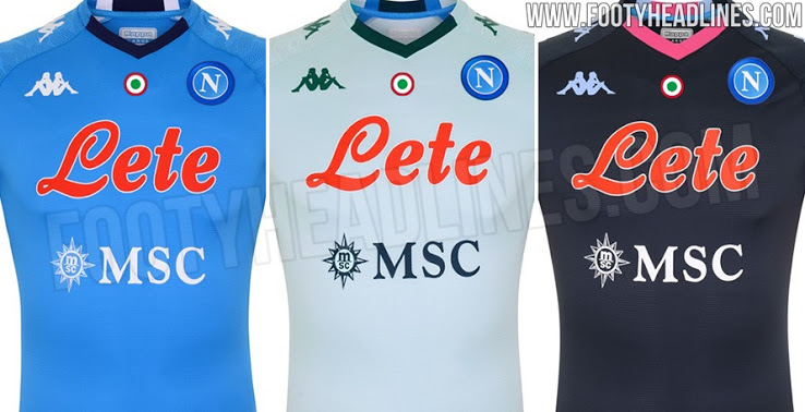 Camiseta de Local, Visitante y Alternativa del Napoli 2020-2021