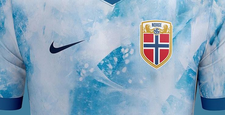 Camiseta de visitante de  Noruega 2020