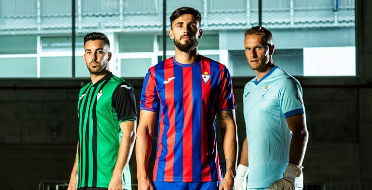 Camisetas de Local, Visitante y Tercera del SD Eibar 2021-2022