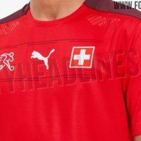 Camiseta de Suiza para la Eurocopa 2020 – Fotos Oficiales