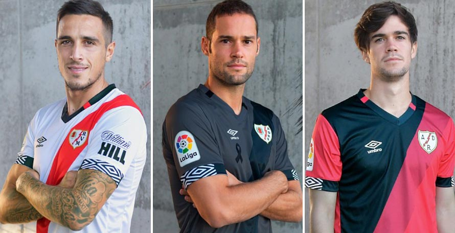 Camisetas de Local, Visitante y Alternativa del Rayo Vallecano 2020-2021