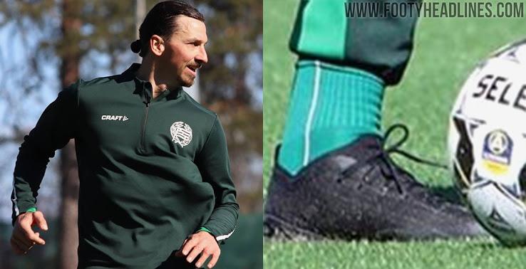 Zlatan Ibrahimovic Entrena las nuevas botas Puma Ultra